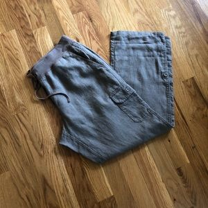 Threads by Saks Fifth Avenue Linen Cargo Pants